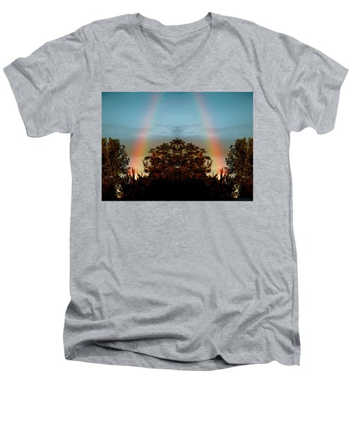 The Rainbow Effect Men's V-Neck T-Shirt by Sue Stefanowicz