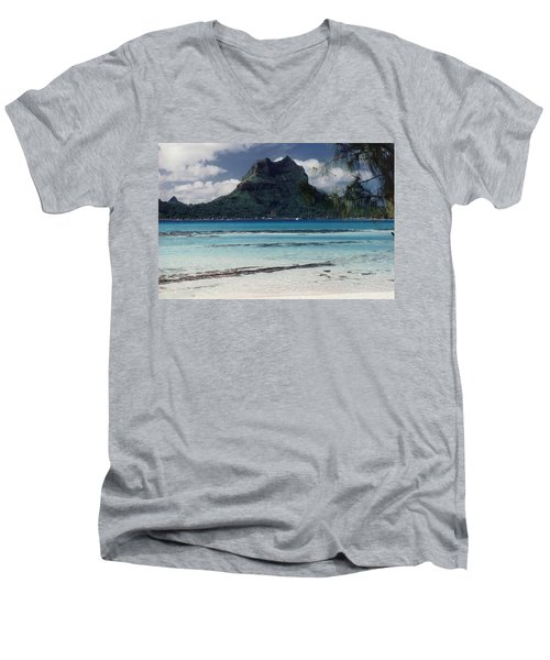 Men's V-Neck T-Shirt featuring the photograph Bora Bora by Mary-Lee Sanders