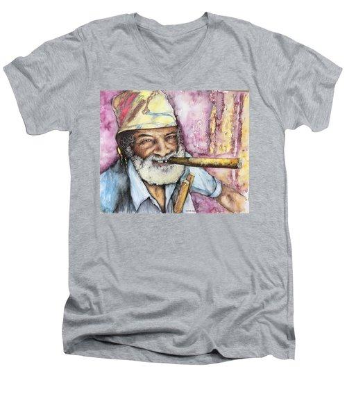 Cigars And Cuba Men's V-Neck T-Shirt