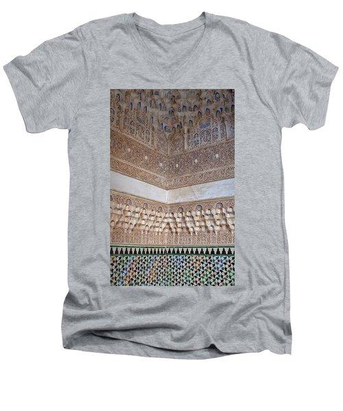 Colorful Carved Corner Men's V-Neck T-Shirt