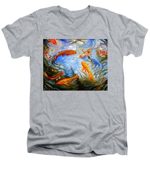 Fish Reflections Men's V-Neck T-Shirt