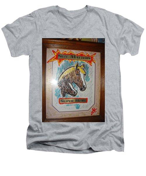 Horses Men's V-Neck T-Shirt by Lisa Piper
