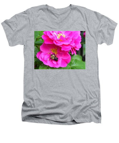 Jc And Bee Men's V-Neck T-Shirt by Mary-Lee Sanders