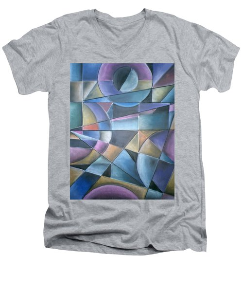 Light Patterns Men's V-Neck T-Shirt
