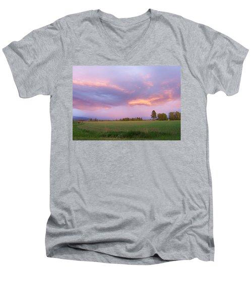 Montana Sunsets 3 Men's V-Neck T-Shirt