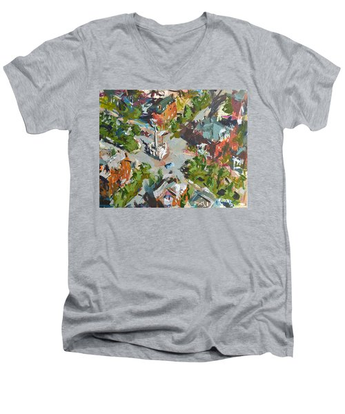 Monument Avenue In Richmond Virginia Men's V-Neck T-Shirt