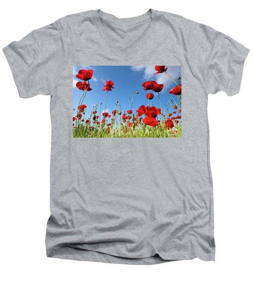 Poppies Season Men's V-Neck T-Shirt