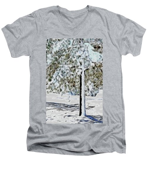 Snowy Tree Men's V-Neck T-Shirt