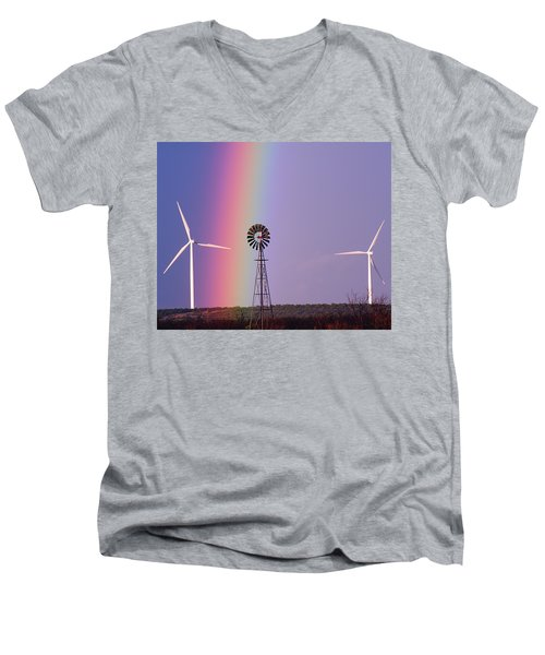 Windmill Promises Old And New Men's V-Neck T-Shirt