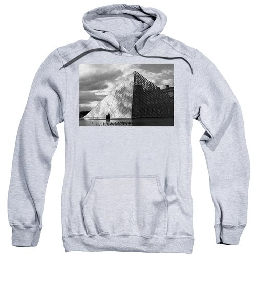 Glass Pyramid. Louvre. Paris.  Sweatshirt