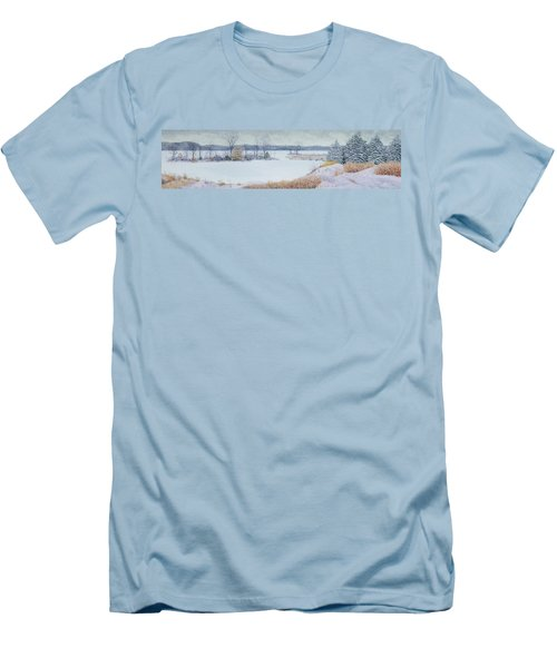 Winter Lake And Cedars Men's T-Shirt (Athletic Fit)