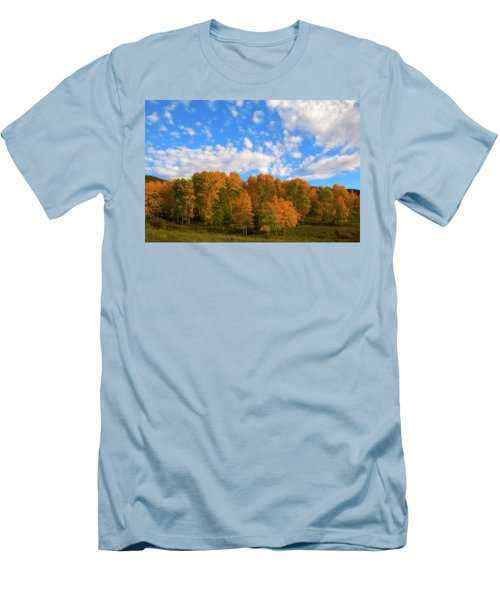 Men's T-Shirt (Slim Fit) featuring the photograph Aspens by Steve Stuller