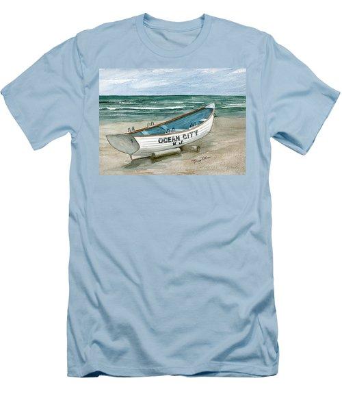 Ocean City Lifeguard Boat Men's T-Shirt (Athletic Fit)
