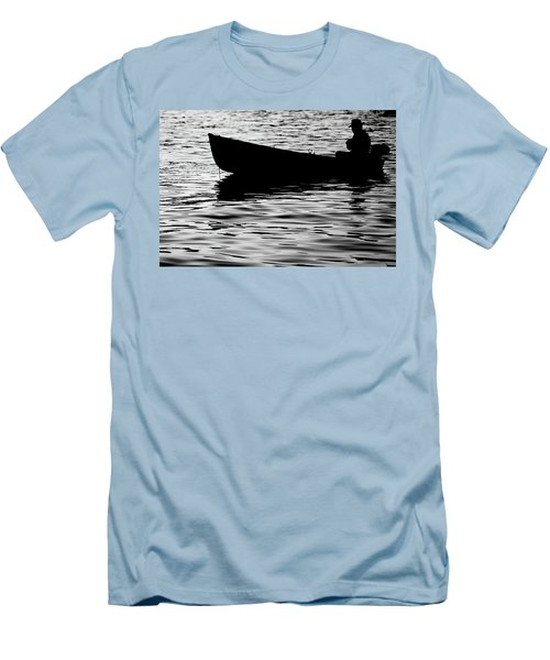 Men's T-Shirt (Slim Fit) featuring the photograph The Old Fishermen by Pedro Cardona
