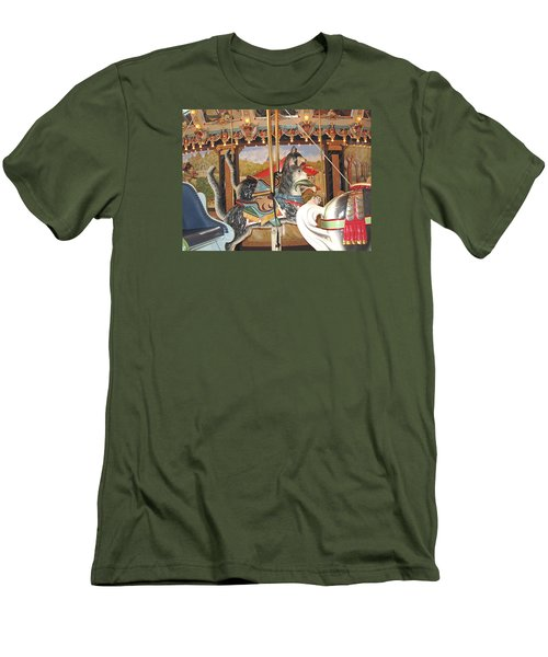 Men's T-Shirt (Slim Fit) featuring the photograph Philadelphia Style Cats by Barbara McDevitt
