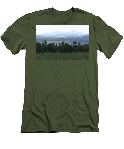 Jay Peak From Irasburg Men's T-Shirt (Slim Fit) by Donna Walsh