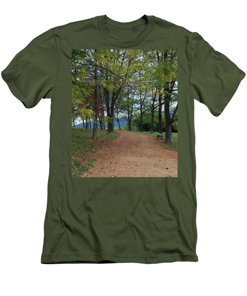 Men's T-Shirt (Slim Fit) featuring the photograph Pathway by Eric Liller