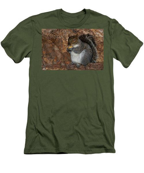 Men's T-Shirt (Slim Fit) featuring the photograph Squirrell by Pedro Cardona