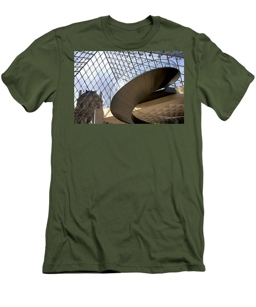 Stairs In Louvre Museum. Paris.  Men's T-Shirt (Athletic Fit)