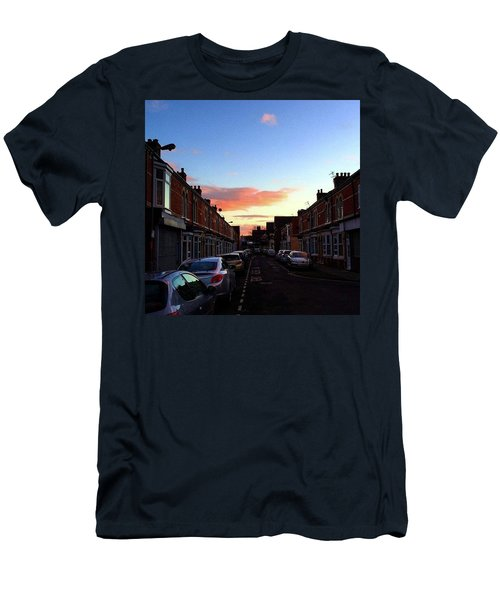 Cartoon Skies Over Middlesbrough Today Men's T-Shirt (Athletic Fit)