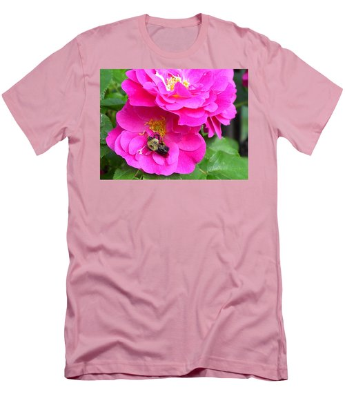 Jc And Bee Men's T-Shirt (Slim Fit) by Mary-Lee Sanders