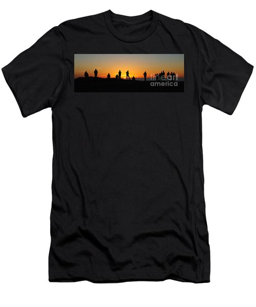 Panorama Everyone Likes A Sunset Men's T-Shirt (Slim Fit) by Vivian Christopher
