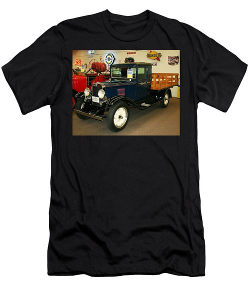 1930 Chevrolet Stake Bed Truck Men's T-Shirt (Slim Fit) by John Black