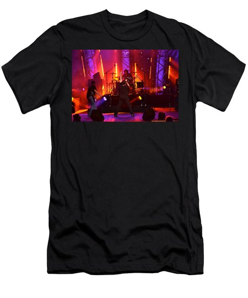 Men's T-Shirt (Slim Fit) featuring the photograph 2u A Tribute To U2 by Carol  Bradley
