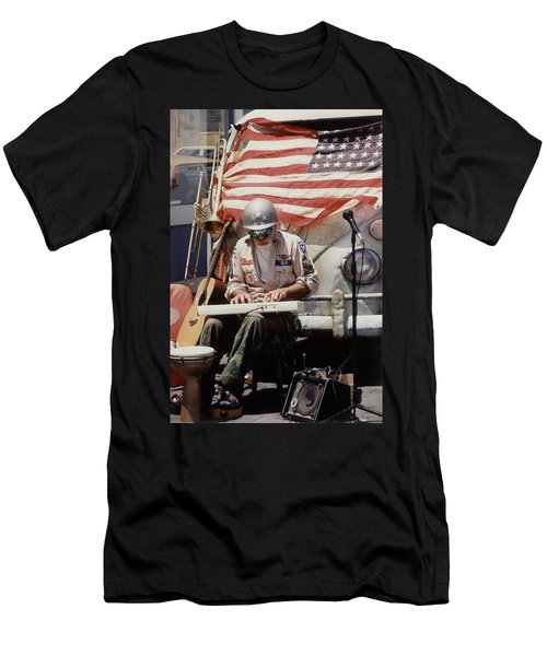 Men's T-Shirt (Slim Fit) featuring the photograph Born In The Usa by Mary-Lee Sanders