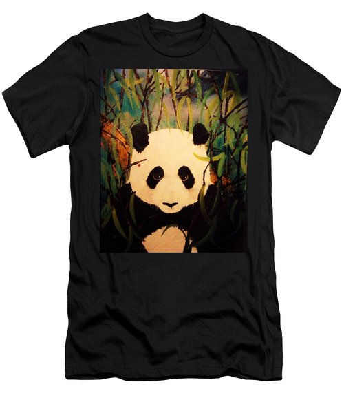 Endangered Panda Men's T-Shirt (Athletic Fit)