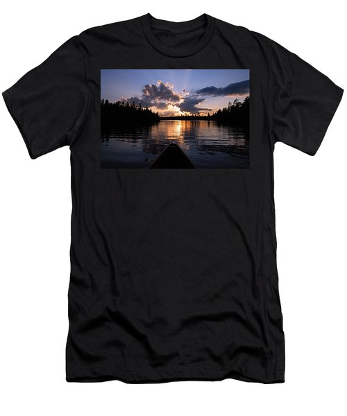Evening Paddle On Spoon Lake Men's T-Shirt (Slim Fit) by Larry Ricker