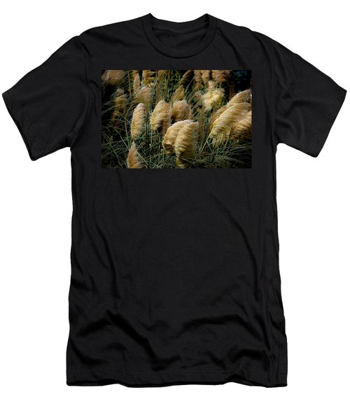 Golden Pampas In The Wind Men's T-Shirt (Slim Fit) by DigiArt Diaries by Vicky B Fuller