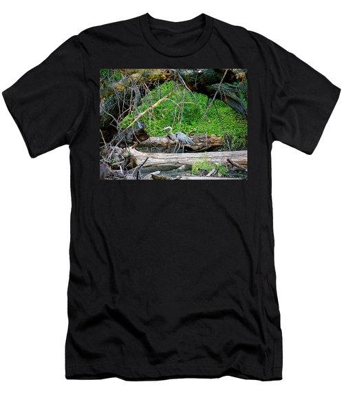 Heron Habitat Men's T-Shirt (Slim Fit) by Sue Stefanowicz
