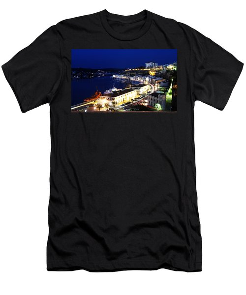 Men's T-Shirt (Slim Fit) featuring the photograph Mahon Harbour At Night by Pedro Cardona