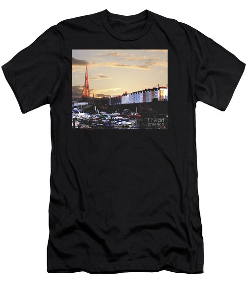 Men's T-Shirt (Slim Fit) featuring the photograph Sunset Over St Mary Redcliffe Bristol by Terri Waters
