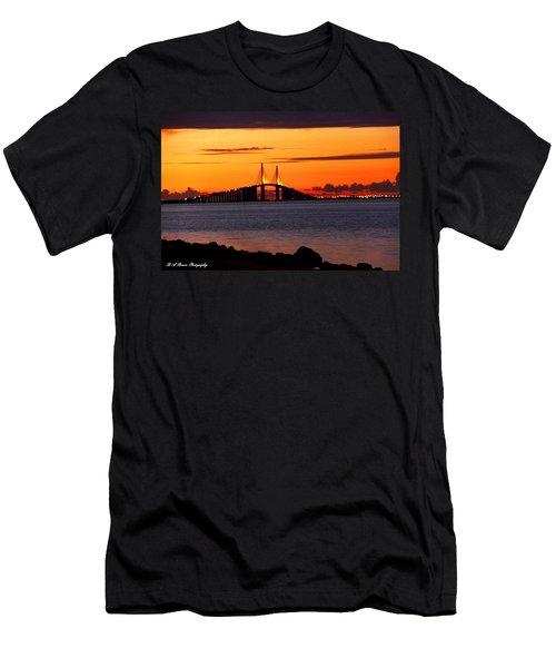 Sunset Over The Skyway Bridge Men's T-Shirt (Athletic Fit)