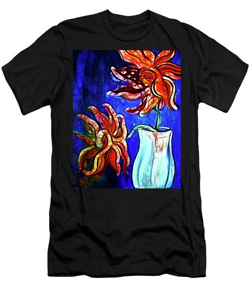 Two Flowers With Vase Men's T-Shirt (Athletic Fit)