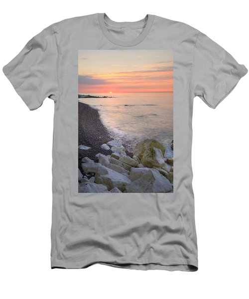 Sunrise At The White Cliffs Of Dover Men's T-Shirt (Athletic Fit)
