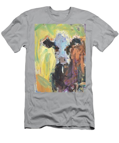 Expressive Cow Artwork Men's T-Shirt (Athletic Fit)