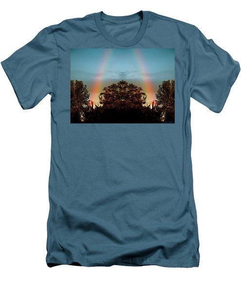 The Rainbow Effect Men's T-Shirt (Slim Fit) by Sue Stefanowicz