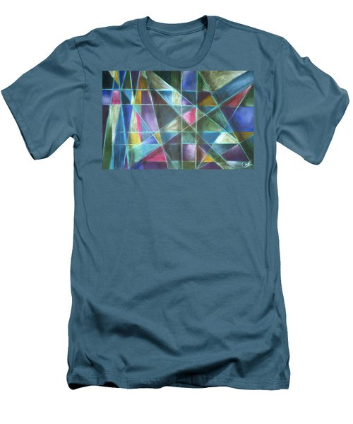 Light Patterns 2 Men's T-Shirt (Athletic Fit)