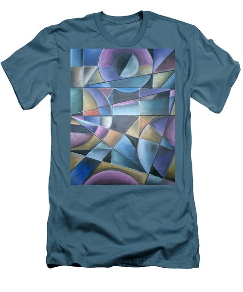 Light Patterns Men's T-Shirt (Athletic Fit)