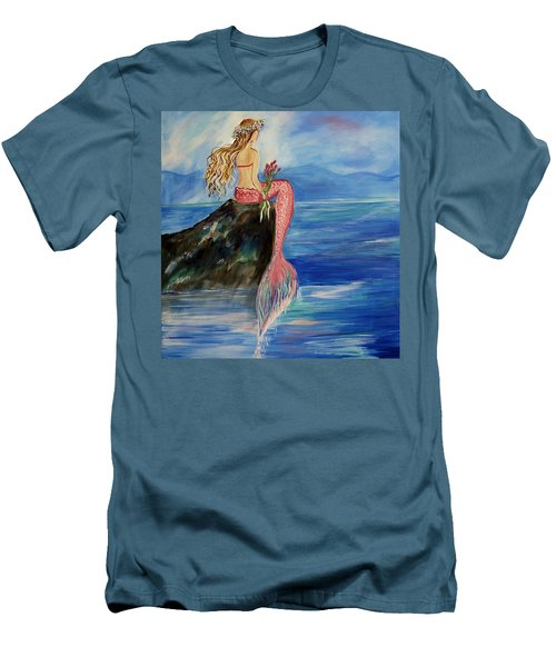 Mermaid Wishes Men's T-Shirt (Athletic Fit)