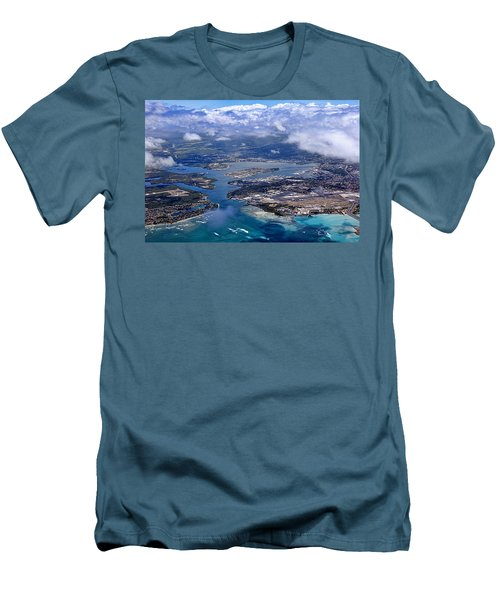 Pearl Harbor Aerial View Men's T-Shirt (Athletic Fit)