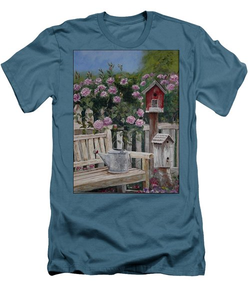 Take A Seat Men's T-Shirt (Slim Fit) by Mary-Lee Sanders