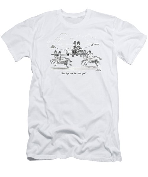 The Left Rear Has Nice Eyes Men's T-Shirt (Slim Fit) by Warren Miller