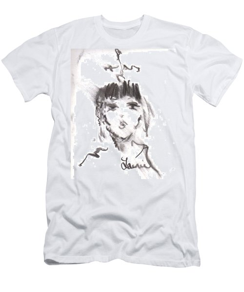 Men's T-Shirt (Slim Fit) featuring the drawing Queen Of Kisses by Laurie L