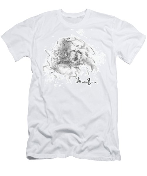 Men's T-Shirt (Slim Fit) featuring the drawing Question Of The Heart by Laurie L