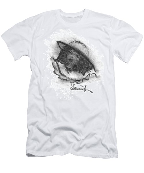Men's T-Shirt (Slim Fit) featuring the drawing Shades Of Sunday by Laurie L