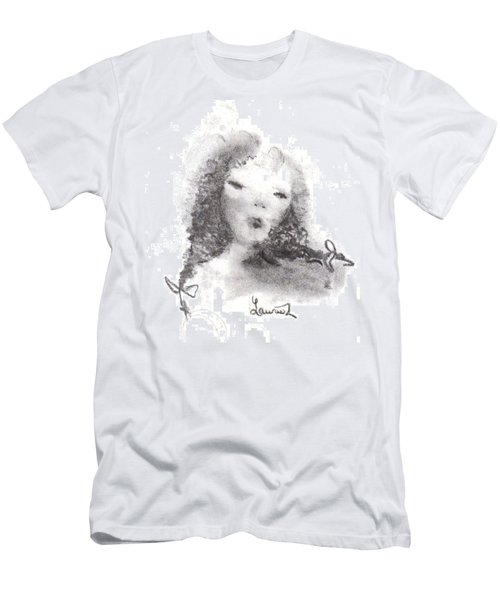 Men's T-Shirt (Slim Fit) featuring the drawing Yesterday by Laurie L